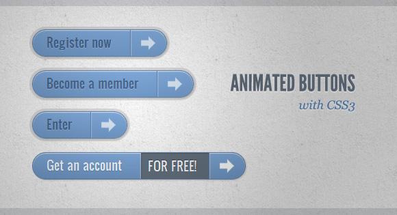 Создание анимированных кнопок при помощи CSS3