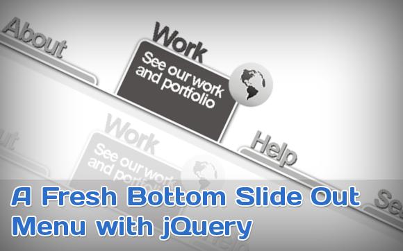 Выскальзывающие пункты меню на jQuery