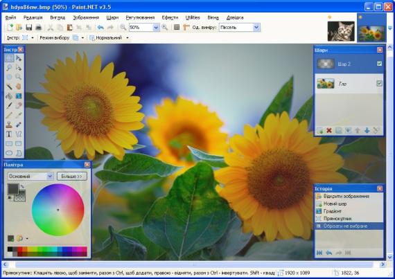 Paint.NET — бесплатный  графический редактор