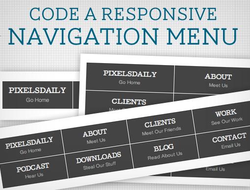 Адаптивное навигационное меню