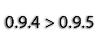 Советую обновится с версии 0.9.4 до 0.9.5