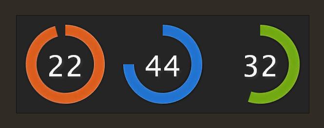 Красочные часы с помощью CSS и JQuery