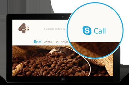 Кнопка позвонить от Skype
